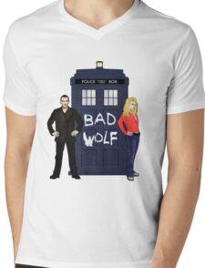 The Ninth Doctor and Rose Mens V-Neck T-Shirt