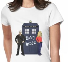 The Ninth Doctor and Rose Womens Fitted T-Shirt