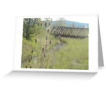 Teasel & Bridge Greeting Card
