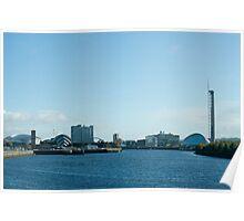 Glasgow Clydeside skyline Poster