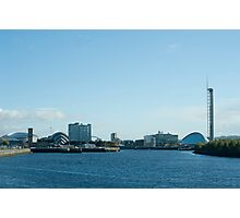 Glasgow Clydeside skyline Photographic Print