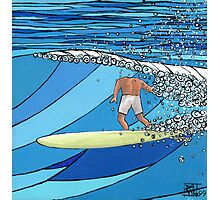 Classic Wave Series ~ Headless Surfer Photographic Print