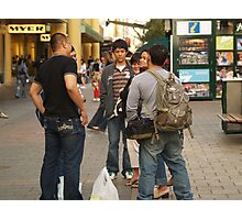 Chatting in the mall Photographic Print