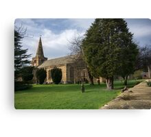 St Lawrence Church, Warkworth Canvas Print