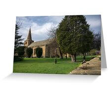 St Lawrence Church, Warkworth Greeting Card