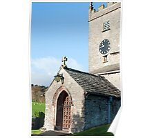 Entrance to Hawkshead church Poster