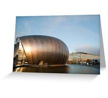 Glasgow Princes Dock Development Greeting Card