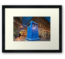 glasgow police box Framed Print