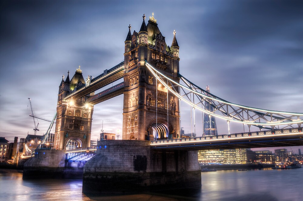 Tower Bridge London at Sunset - From the Dock by eic10412