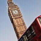 Big Ben with Double Decker by eic10412