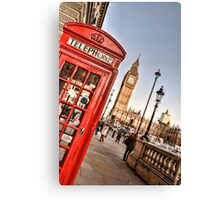 Red Telephone Booth - London Canvas Print