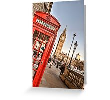 Red Telephone Booth - London Greeting Card