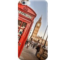 Red Telephone Booth - London iPhone Case/Skin