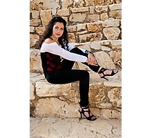 Girl in the new trendy, stylish suit Photographic Print