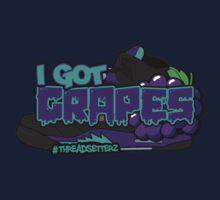 I Got Grapes Black Kids Tee
