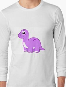 Cute illustration of a Brontosaurus dinosaur. Long Sleeve T-Shirt