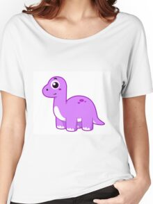 Cute illustration of a Brontosaurus dinosaur. Women's Relaxed Fit T-Shirt