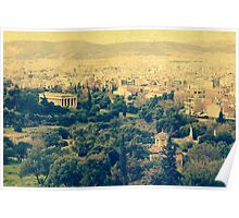 Athenian panorama Poster