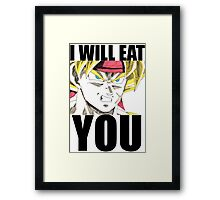 Bardock Will Eat You! (Text) Framed Print