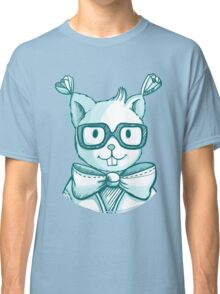 Funny hipster squirrel in glasses Classic T-Shirt