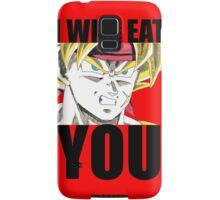 Bardock Will Eat You! (Text) Samsung Galaxy Case/Skin