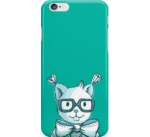 Funny hipster squirrel in glasses iPhone Case/Skin