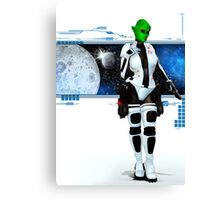 The Girl from Mars Canvas Print