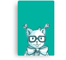 Funny hipster squirrel in glasses Canvas Print