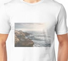 Ocean (Rocks Within the Misty Blue) Unisex T-Shirt