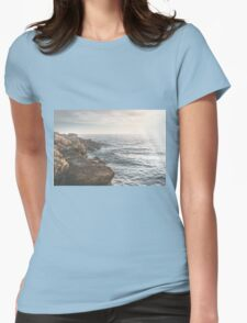 Ocean (Rocks Within the Misty Blue) Womens Fitted T-Shirt