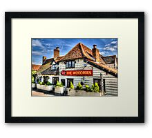 The Woodman Pub Framed Print