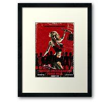 Zombie Cheerleader From Hell Framed Print