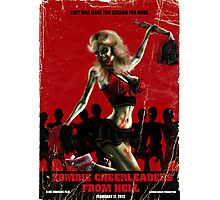 Zombie Cheerleader From Hell Photographic Print