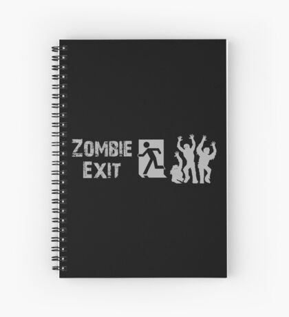 ZOMBIE EXIT SIGN by Zombie Ghetto Spiral Notebook