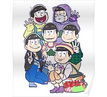 Six Same Faces - Osomatsu-san Poster