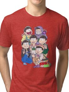 Six Same Faces - Osomatsu-san Tri-blend T-Shirt