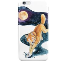 Golden Wolf with Fantasy Stars iPhone Case/Skin