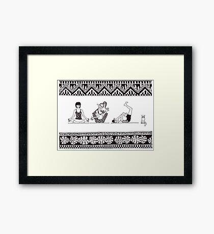 Yoga one-O-one Framed Print