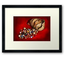Toy - Found my marbles Framed Print
