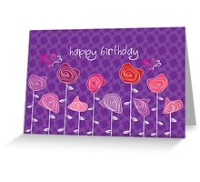 Give me Roses Violet Greeting Card