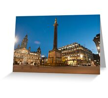 george square central glasgow Greeting Card