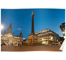 george square central glasgow Poster