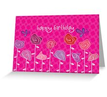 Give me Roses Pink Greeting Card