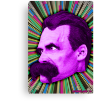 Nietzsche Burst 2 - by Rev. Shakes Canvas Print