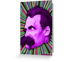 Nietzsche Burst 2 - by Rev. Shakes Greeting Card