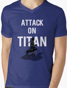 Attack on Titan Mikasa Ackerman Mens V-Neck T-Shirt