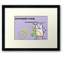 Hipster fixie Framed Print