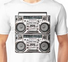 Two Retro Boomboxes Unisex T-Shirt