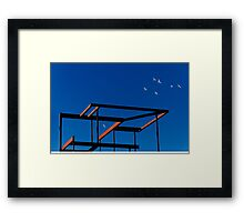 Freedom has consequences. Framed Print