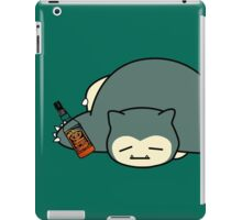 Drunk snorlax with Jack Daniel's iPad Case/Skin